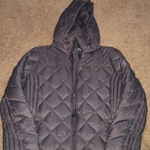 Gray Michael Kors down coat, extra small